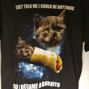 Black Matter Cat Burrito Tee from Hot Topic Size M